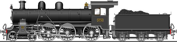 8700形 蒸気機関車