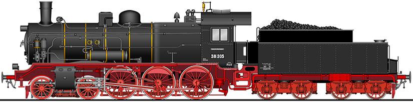 ドイツ国鉄br38形 蒸気機関車
